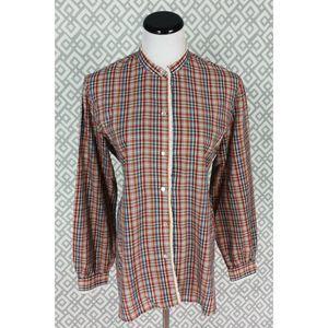 Vintage Koret City Plaid Button Down Top Shirt